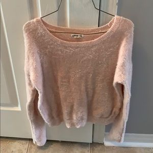 Garage fuzzy pink sweater